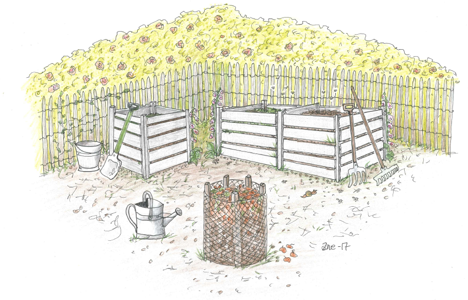 Hagekompost, hjertet i hagen